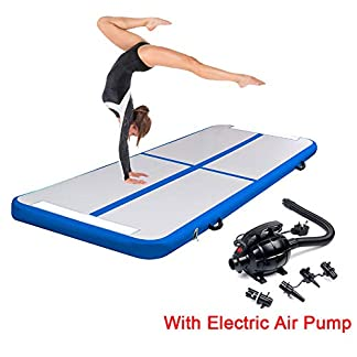 Triclicks Inflatable Air Tumble Track Gymnastics Mat With Electric Air Pump | Tumbling Mat Flooring Mat Yoga Workout Mat Training Mat | Portable Home Taekwondo Fitness Mat, 300 x 90 x 10cm 7