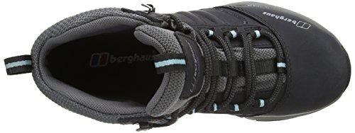 Berghaus EXPEDITOR AQ RIDG TECH BOOT AF BLK/BLU, Bottines de randonnée femme Noir (Black/Angel Blue X12)
