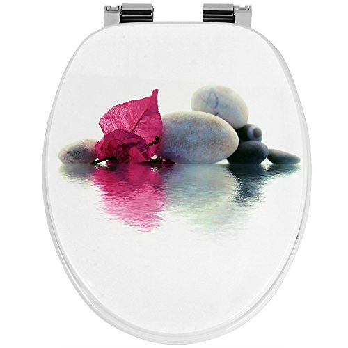 Deuba WC Toilettendeckel doppelte Absenkautomatik stabile ABS-Schaniere inkl. Montagematerial Toilettensitz Klodeckel (Schienen Mit Wc-sitz)