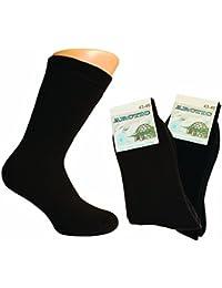 6 Paar Dicke Baumwoll Herren Thermo Socken mit Motiv farbig gemischt / Herrensocken Vollfrottee / Männer Strümpfe