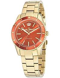 Pepe Jeans R2353102510 - Reloj con correa de tela para mujer, color naranja / gris