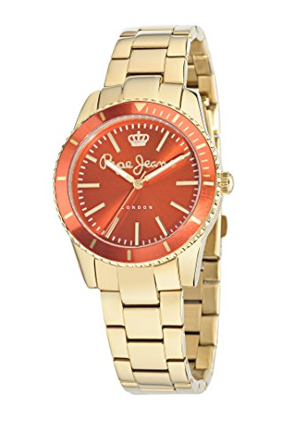 Pepe Jeans Damen-Armbanduhr CHARLIE Analog Quarz Leder R2351105503