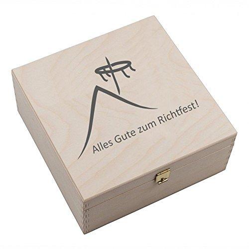 """Alu Hufeisen-Box mit verschiedenen Motiven """"Zur Geburt"""" - """" Viel Glück"""" - """"Alles Gute zum Richtfest"""" - """" Viel Glück im neuen Zuhause"""" - """"Its a boy"""" - Its a Girls"""" Aluminium Hufeisen (Alles Gute zum Richtfest)"""