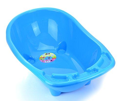 Babywanne Badewanne Asil Babybadewanne Badesitz XXL ca. 90 Liter (Blau)