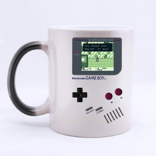 """ARTSWOW, motivo: Game Boy di Nintendo Legend Of Zelda """", per casa, ufficio, motivo: tazze da tè e da caffè Morphing Mug in ceramica, 325 ml"""