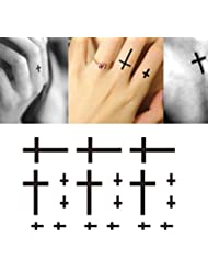 Stickers de tatouage temporaire pour l'art corporel Croix #3 Temporary Tattoo Body Tattoo Sticker - FashionLife