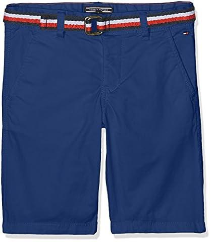 Tommy Hilfiger Jungen Badeshorts AME BELT CHINO SHORT MSTRT KB0KB02860, Gr. 164 (Herstellergröße: 14), Blau (Estate Blue 494)
