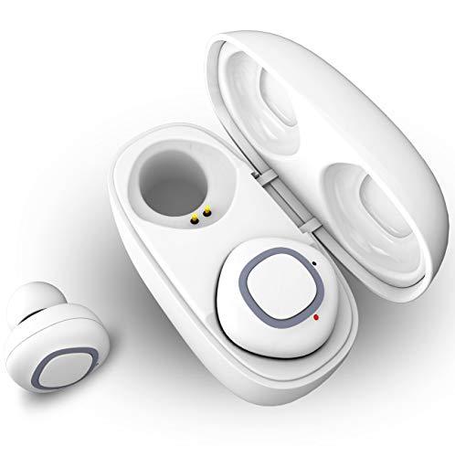 Bluetooth Kopfhörer 5.0, SYOSIN Sport Kopfhörer in Ear IPX6 Stereo Wireless Ohrhörer mit 30 Stunden Spielzeit, Sport Headset mit Mikrofon, CVC 8.0 Noise Cancelling für iPhone Samsung Huawei