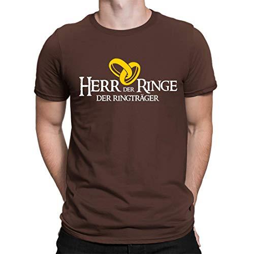 Junggesellenabschied T-Shirt Der Herr Der Ringe - Ringträger - Herren Fun T-Shirt Zum JGA - Erhältlich in 15 Farben (XL)