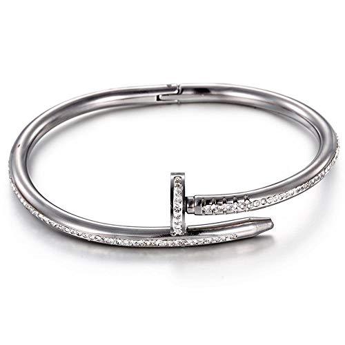 ChuangYing Mode-Persönlichkeit-Schmuck-Nagel-volle Diamant-Armband
