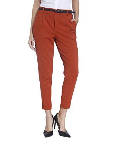VERO MODA Damen Hose Vmkally Ankle Pants Jrs Rot (Arabian Spice), 34 (Herstellergröße: XS)