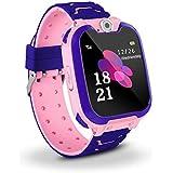 Niños Smart Watch Phone, La Musica Smartwatch para niños de 3-12 años Niñas con cámara Ranura para Tarjeta SIM Juego de Panta