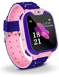 Niños Smart Watch Phone, La Musica Smartwatch para niños de 3-12 años Niñas con cámara Ranura para Tarjeta SIM Juego de Pantalla táctil Smartwatch Childrens Gift(Pink)