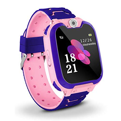 Bhdlovely Kids SmartWatch Phone Digital Camera Watch with Games, Music Player, Alarm Clock,Recorder, and 1.44 inch Touch LCD for Boys Girls Birthday Blue (PINK) Phone Call Recorder