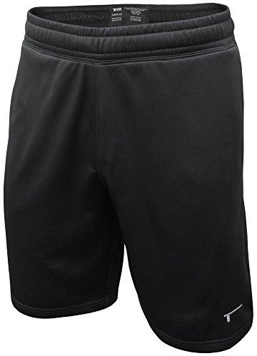 TREN Herren THERMAL Performance Short Sporthose mit Seitentaschen Schwarz 001 - L -