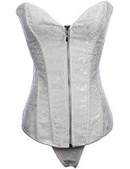 Topwedding jacquard sans bretelles fermeture éclair avant corsets