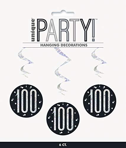 Unique Party- Adornos, Color black & silver (83792)