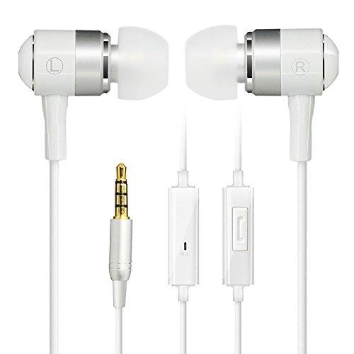 Cowin HE1 In-Ohr Geräuschisolierende Kopfhörer, wasserdicht Sweatproof Earbuds für Gym Laufen mit Mic HD Dynamischer kristallklarer Klang, Ergonomische Comfort-Fit und 100% Kompatibilität - Weiß Ipod Nano Mic