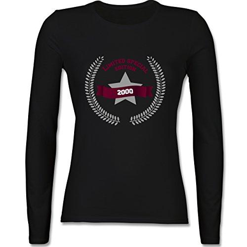 Geburtstag - 2000 limited special edition - tailliertes Longsleeve / langärmeliges T-Shirt für Damen Schwarz