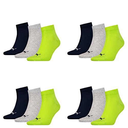 12 pair Puma Sneaker Quarter Socks Unisex Mens & Ladies