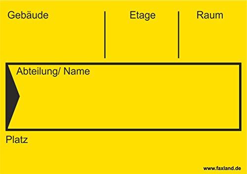 40x Umzugetiketten Nr.4, 105x74, Beschriftung mit Etiketten vom Umzugskarton für den Umzug, Umzugsetiketten, Gelb thumbnail