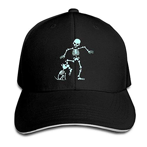 WBinHua Hüte caps Dog Like Bones Skeleton Adult Adjustable Snapback Hats Dad Hat Unisex