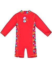 Baby- / Kleinkinder-Badebekleidung Einteiler mit UV-Schutz 50+ und Oeko-Tex 100 Zertifizierung in rot oder violett