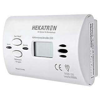 Hekatron 31-6300001-01-XX CO Melder mit Batterie & Co Sensor mit bis zu 10 Jahren Leistung – Kohlenmonoxidwarnmelder mit Digitaldisplay und Spitzenwertspeicher