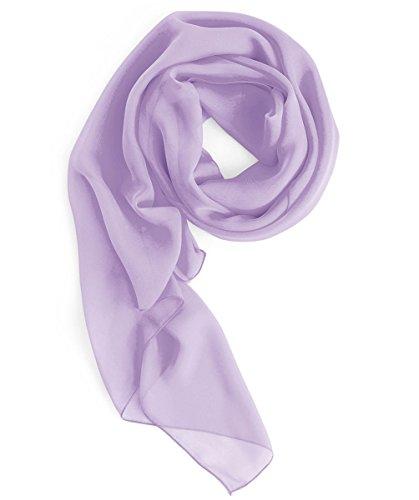 Homrain Damen Chiffon Stola Schal für Hochzeitskleider Abendkleider Alltagskleidung Lavender S