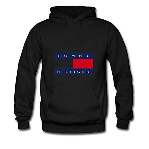 Tommy Logo Hilfiger Hoodies -  Felpa con cappuccio  - Uomo Black Small