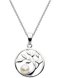 Dew - Collana con ciondolo a forma di albero racchiuso in un cerchietto in  argento Sterling b7220de188e0
