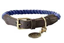 HUNTER Collar with Rope List, 57-65, Dark Blue