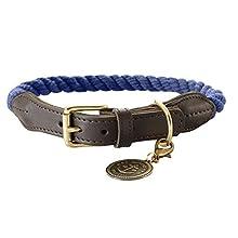 HUNTER Collar with Rope List, 57-65, Dark Blue