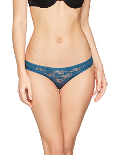 Iris & Lilly Slip in Pizzo Soft Lace Donna, Pacco da 3 Multicolore (Soft Teal/ Teal/ Clemantis Blue)