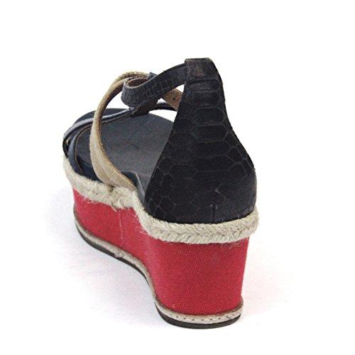 Juicy Couture d'orteil ouverte et à plate-forme de tong Taille 3,5, prix de vente conseillé 129 £ - Regal navy-natural-red