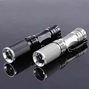 Meco XPE-Q5 600 Lumen 7W Zoomable LED Flashlight For 1xAA 1.2V (Black) Brand New Imported