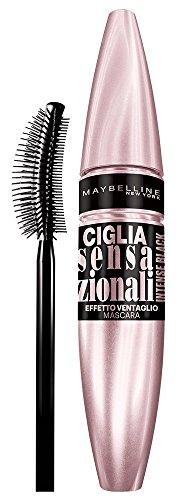 Maybelline New York Ciglia Sensazionali Intense Black Mascara, Volume Effetto Ventaglio, Nero