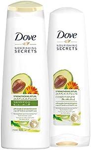 Dove Strengthening Ritual Shampoo Avocado, 400ml + Dove Conditioner, 320ml