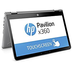 "HP Pavilion x360 14-ba029ns - Ordenador Portátil convertible táctil de 14"" FullHD (Intel Core i3-7100U, 4 GB RAM, 500 GB HDD, Intel HD Graphics 620, Windows 10); Plateado - Teclado QWERTY Español"