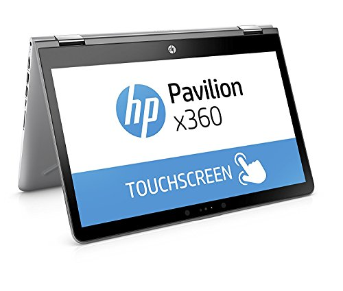 "HP Pavilion x360 14-ba029ns - Ordenador Portátil convertible táctil de 14"" HD (Intel Core i3-7100U, 4 GB RAM, 500 GB HDD, Intel HD Graphics 620, Windows 10); Plateado - Teclado QWERTY Español"