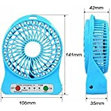 Unbranded Mini Portable Usb Rechargeable 3 Speed Fan Colors May Vary