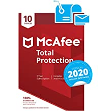 McAfee Total Protection 2020 | 10 Devices | PC/Mac/Android/Smartphones | Activation code by post