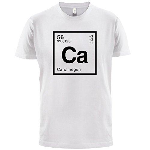 Caroline Periodensystem - Herren T-Shirt - 13 Farben Weiß