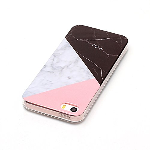Für Apple IPhone 5 5s SE Fall Marbling Textur Soft TPU Abdeckung Slim Ultra Thin Anti-Kratzer Schock Absorption Schutzmaßnahmen zurück Deckung Shell ( Color : J ) H