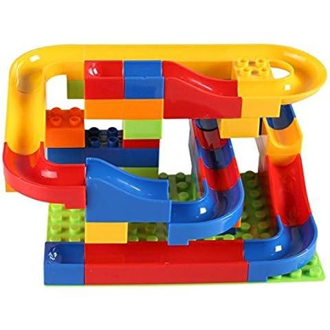 juguetes educativos bola de pista plástico interconexión de bloques coloridos 47 jugadas de los niños fijaron