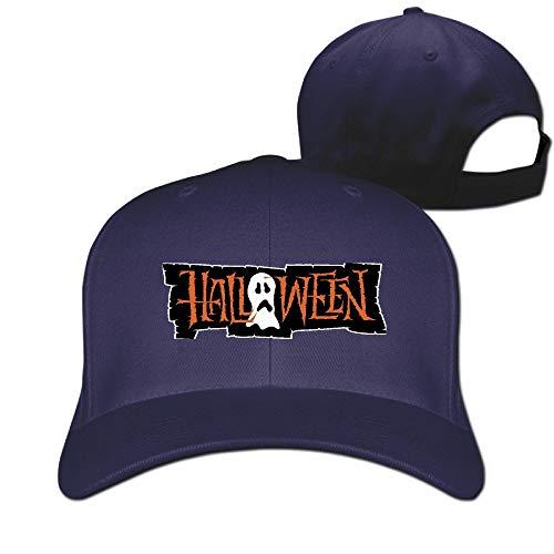 Halloween Sad Ghost Vintage Pure Color Baseball Caps Unisex