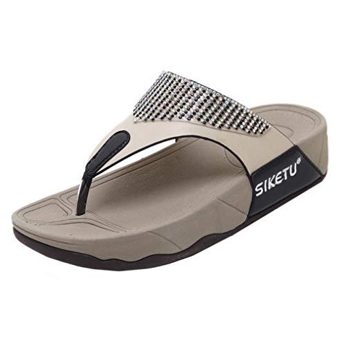 Infradito donna basic, honestyi pantofola donna, pantofole sandali scarpe da donna bohemian wedge flops sandali da spiaggia scarpe basse ciabatte da donna casuali morbide