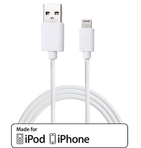 Cloudseller 1 Metre [Apple MFI Certified] iPhone 7 / 6 / 6+ / 5 / 5S / 5C / CHARGER COPPER LEAD HIGH QUALITY USB DATA CABLE- 8 Pin - Compatible With ios 10 & ios9, IPHONE 6, 5s, 5c IPOD TOUCH 5 NANO 7 IPAD MINI ®