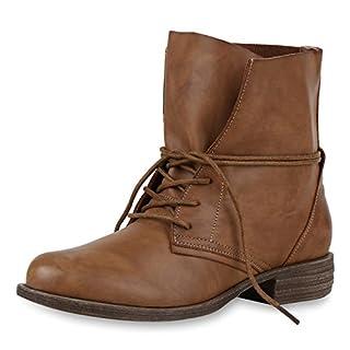 Damen boots Stiefeletten mit Stilettoabsatz Trend Damen STIEFELETTEN Hellbraun Marrone Nuovo 39