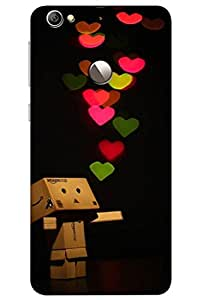 AMAN Heart Of Love 3D Back Cover for LeEco Le 1s